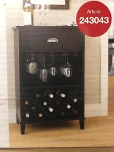 ( 2 AVAILABLE) Threshold Wine Cabinet Black Coffee Finish (Pick Up Only) PU0