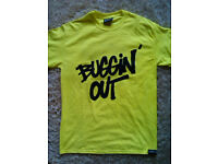 Buggin' out tshirt yellow fluo M size brand NEW