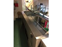 Bespoke narrow XL refridgeration unit, section for wet product, section for deli, storage