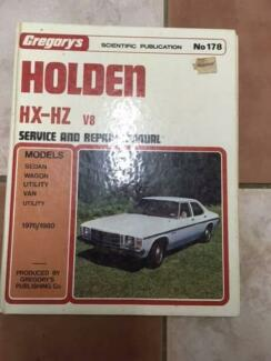 FOR SALE  HOLDEN  HX - HZ SERVICE AND REPAIR MANUAL******1980