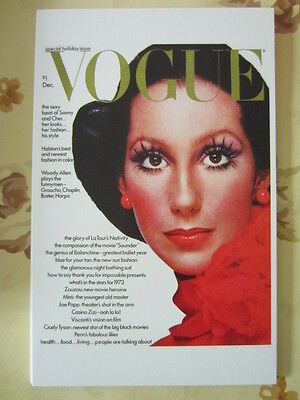 Postcard Vogue Cover Richard Avedon December 1972