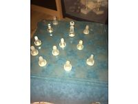 Glass Chess Set - Complete