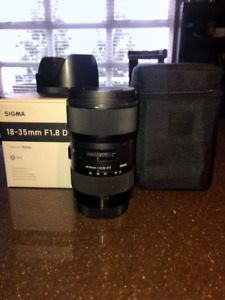 Sigma ART 18-35 f1.8 DC HSM Lens for Canon MITN CONDITION