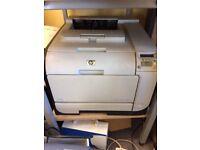 HP Colour Laserjet 2500 Series Printer with Spare x 7 New Toner Cartridges