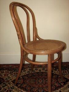 Antique Bentwood Bistro Chair, Woven Cane Seat, Cafe-Style Kitchener / Waterloo Kitchener Area image 4
