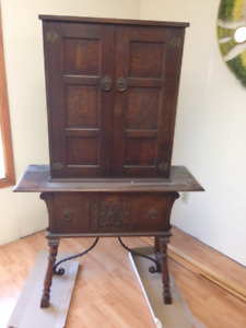 antique solid oak dining set