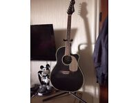 Semi acoustic - vintage synergy vr6 black guitar and accessories
