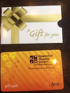 Humane society gift card $130 for $110 or trade for another card