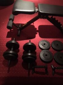 bench dumbells and push up bars FOR SALE