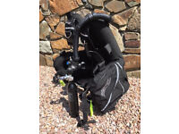 MENS SCUBA DIVING EQUIPMENT WITH POSEIDON REGS, DRY SUIT & BUDDY COMMANDO BCD