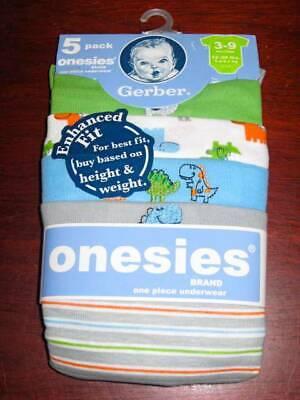 New Gerber 5 pack onesies boys 0-3 months short sleeve prints Pack Onesies