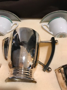Christofle Art Deco Silver Plated Tea/coffee  Set with Tray