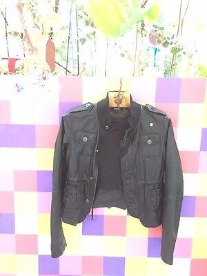 Aktuelle Echt Leder Jacke DKNY Größe 14/ 34-36 Aufwendig verarbeitet. USA  15