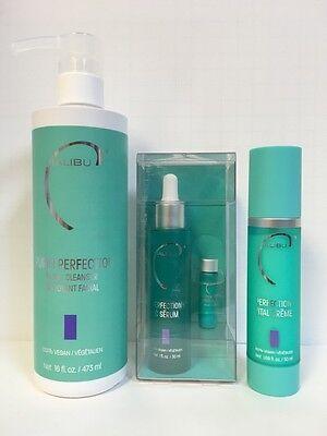 Malibu Perfektion Hautpflege Trio - Gesichtspflege Reinigungs,Feuchtigkeitscreme - Pflege-trio