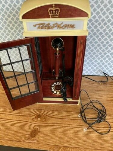 Spirit of St Louis Light Up Wooden Cabinet Telephone Booth Vintage Novelty