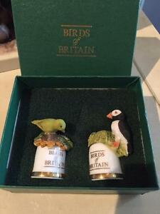 BIRDS OF BRITAIN COLLECTORS THIMBLES BY SUTHERLAND CHINA BOXED PUFFIN GREENFINCH
