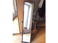Black free-standing mirror