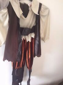 Kids Halloween Pirate Costumes - Will fit 4 to 5 year old/party supplies