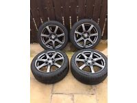 """full set of 4 brand new OZ racing Alloy's and 225/45/17"""" Toyo Proxes T1 sport Tyres"""