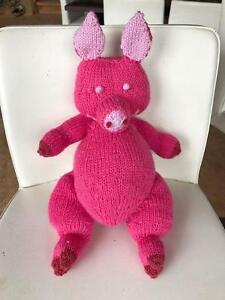 Adorable hand-knitted soft toy animals for babies and children Capital Hill South Canberra Preview