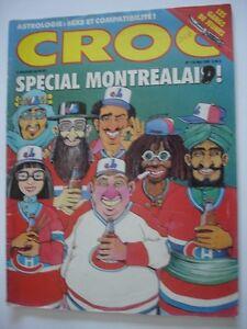 Ancien magazine CROC Spécial montréalais No 118 Mai 1989