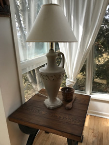 Antique style clay lamp