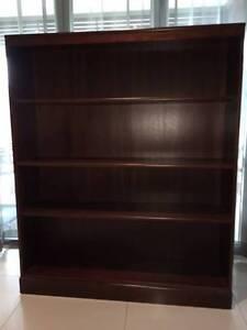4 shelf Brown Mahogany bookcase Kewarra Beach Cairns City Preview