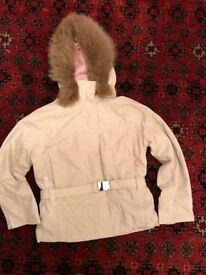 Size 8 Elle Sport ladies ski jacket with real fur hood trim