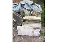 Rare York stone paving assorted sizes