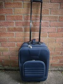 Pull along suitcase Blue Good used condition