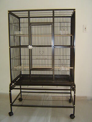 "Everila New Bird Parrot Cage 32Lx20Wx53H Bar Spacing 3/8"" Cockatiel Conure Finch"