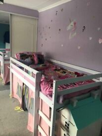 Kids mid sleeper bed frame in excellent condition