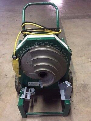 Greenlee 555 Deluxe Conduit Pipe Bender 2 Rigid Shoes 2 Rollers 12-2 Imc Emt