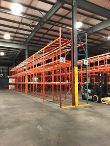 NEW/USED PALLET RACKING INSTALL REMOVE SUPPLY RELOCATE @ GREAT $