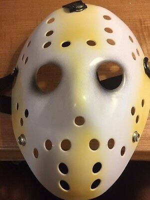 Jason Voorhees White and Yellow Mask - Use It For Dress Up - Halloween - Cosplay
