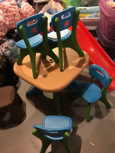 KIDS STEP 2 TABLE AND CHAIR - $20