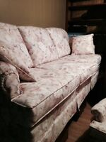 Estate Sale 3 Seater Sofa and Chair