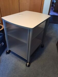 Printer / DVD entertainment storage cart on wheels