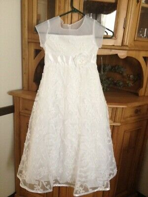 Bonnie Jean White Flower Girl First Holy Communion Dress size 7 NWT
