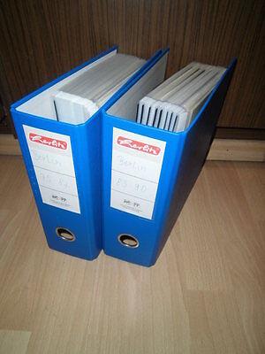 Sammlung, Berlin, ETB 1975-1990 komplett + 2x Ringbinder (70050)