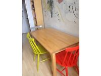 Habitat Talia Chairs and Ikea Pine Dining Table (will sell separately)