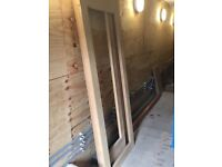 Oak doors (x3)