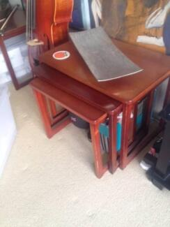 wooden side tables Wollstonecraft North Sydney Area Preview