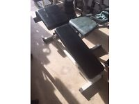 incline sit up bench used