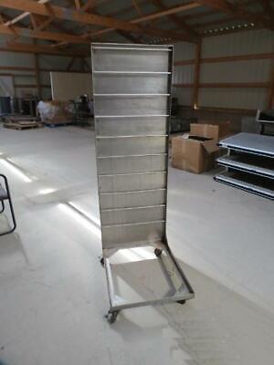Stainless Steel Portable Fryer Basket Rack Holder Cart Deep Fry Commercial