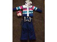 Ski Suit - Salopettes and Jacket by Mountain Warehouse - Age 3/4 with Ski Mittens