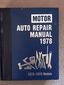 1978  AUTO  REPAIR  MANUAL  FOR  SALE