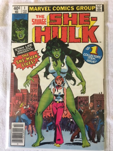 THE SAVAGE SHE-HULK comic book #1 - 1st Appear. of the She-Hulk.