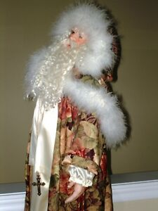 3' Tall FATHER TIME Kris Kringle Santa CHRISTMAS Porcelain DECOR Oakville / Halton Region Toronto (GTA) image 8
