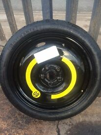Seat Leon space saver wheel & tyre + jack & wheel spanner 18""
